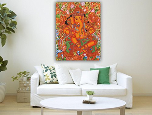 Canvas Painting - Sri Ganesha - Kerala Mural Painting  available at amazon for Rs.898