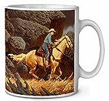 Montar a caballo del vaquero Cumpleaños taza de café regalo navidad