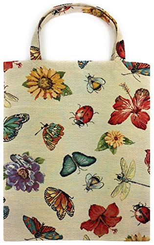 robuste Canvas-Einkaufstaschen Tasche Beutel Bag Jute Stoff Shopper Henkel Trage Einkäufe Libelle Marienkäfer Biene - Canvas Tragen