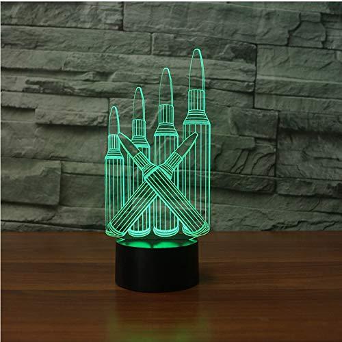 7 Farbwechsel Atmosphäre Led 3D Kugel Form Tischlampe Touch Button Usb Lampara Schlaf Nachtlicht Leuchte Schlafzimmer Dekor