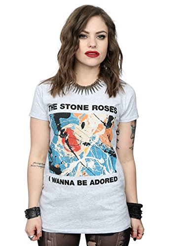 Stone Roses Women's Official I Wanna Be Adored T-Shirt, Grey - XS to XXL