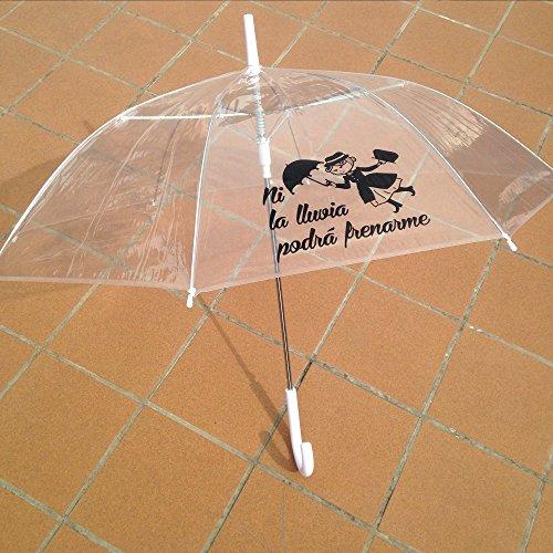 Paraguas originales con mensajes graciosos, transparentes y automáticos.