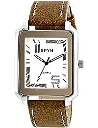 Spyn Analogue White Dial Men's Watch SL0022W