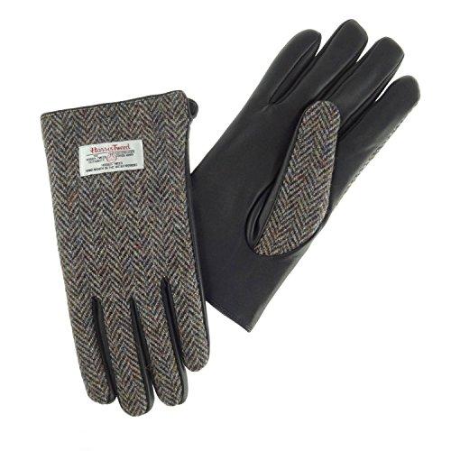 100-authentic-mens-harris-tweed-herringbone-and-black-leather-gloves-large-brown