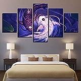Mddrr Hd Drucke Leinwand Bilder Für Wohnzimmer 5 Stücke Fisch Koi Yin Yang Super Revel Malerei Wohnkultur Poster Wandkunst Rahmen Poster