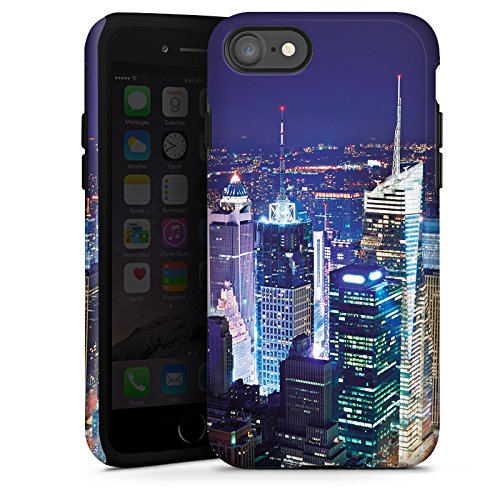 Apple iPhone X Silikon Hülle Case Schutzhülle Stadt Skyline Big City Tough Case glänzend