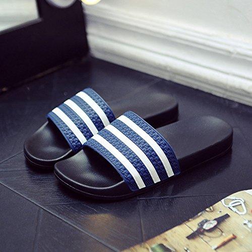 Zapatillas Doghaccd, Zapatillas Cool Verano Interior Femenino Antideslizante Sala De Estar Con Un Par De Moda, Con Un Estilo Cool Beach Y Hombre Azul Oscuro 4