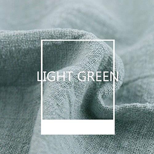 130x100cm Stoff Meterware zum Nähen, blickdichter Naturstoff für Bekleidung, Gewänder, Vorhänge und Deko(Hellgrün) ()