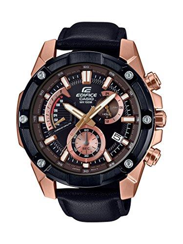Casio Reloj Analogico para Unisex de Cuarzo con Correa en Cuero EFR-559BGL-1AVUEF