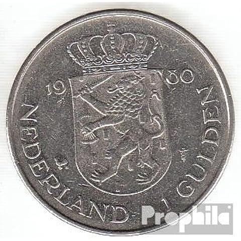 Países Bajos km-No.. : 200 1980 Nickel 1980 1 Gulden beatriz (monedas para los coleccionistas)