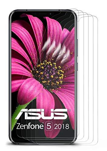 moex 5X Asus Zenfone 5 (2018) | Schutzfolie Klar Bildschirm Schutz [Crystal-Clear] Screen Protector Display Handy-Folie Dünn Bildschirmschutz-Folie für Asus Zenfone 5 (2018) Bildschirmfolie