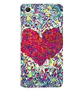 Beautiful Diamond Heart 3D Hard Polycarbonate Designer Back Case Cover for Oppo A37
