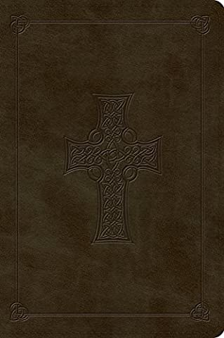 Holy Bible: English Standard Version, Trutone, Olive, Celtic Cross