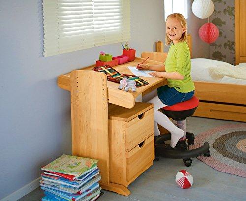 BioKinder 22811 Julia Spar-Set Kinderschreibtisch und Rollcontainer aus Massivholz Erle (Erle)