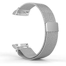 Kepuch Milanese Samsung Gear S2 Banda - Loop Correa Chapado en Reemplazo de Cierre Magnético para Samsung Gear S2 - Plata