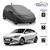 #10: Fabtec Premium Quality Full Sized Triple Stiched Car Body Cover With Mirror & Antenna Pocket, Buckle Lock & Storage Bag For Hyundai Elite i20