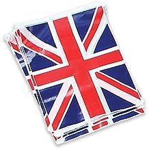 Bristol Novelty - Guirnalda con banderines decorativos con la bandera de Reino Unido (7 m)
