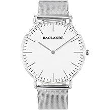 Alienwork Classic St.Mawes Quarz Armbanduhr elegant Quarzuhr Uhr modisch Zeitloses Design klassisch silber Metall U04916G-01