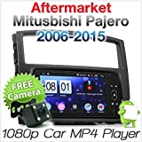 tunez Android Auto MP3-Player für Aftermarket Misubishi Pajero 2006–2015 NS NT NW NX Chassis 4. Generation Doppel-Din USB Stereo Radio GPS MirrorLink