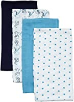 Care Baby Boys Cloth, 4-Pack, Multicoloured (Blue 709), One Size