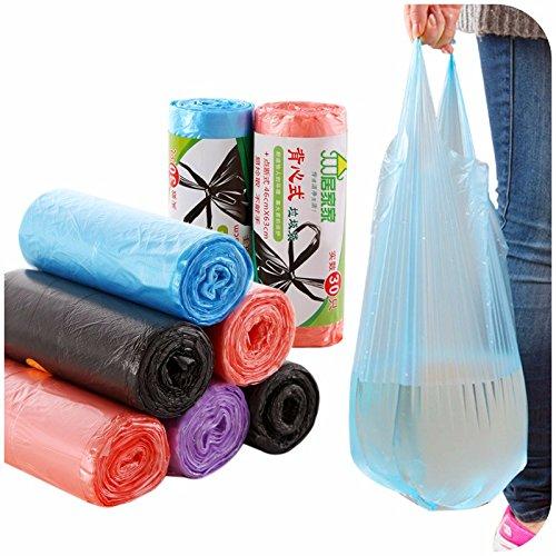 fomccu 1-roll Küche Müllsäcken Off Point tragbar dicker Haushalt Einweg Kunststoff Staubbeutel Lederpolster/Rolle