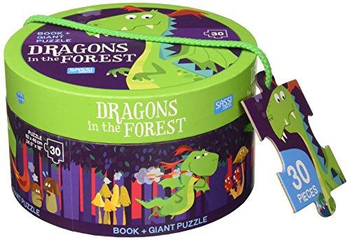 Dragons in the forest. Ediz. a colori. Con puzzle gigante (Sassi junior) por Mathew Neil