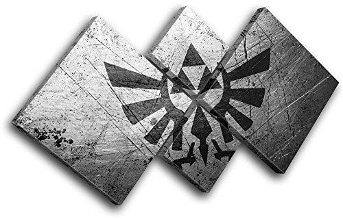 Preisvergleich Produktbild Bold Bloc Design - Legend of Zelda Nintendo Switch Gaming 114x57cm MULTI Leinwand Kunstdruck Box gerahmte Bild Wand hangen - handgefertigt In Grossbritannien - gerahmt und bereit zum Aufhangen - Canvas Art Print