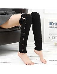 Fiunoki Chaussette,Longues Chaussettes Bonneterie Jambières Chaussettes Boot Cover pour Les Femmes étendent Revers De Jambe De Démarrage Chaussette