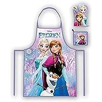 Frozen - Set de cocina infantil, delantal, guante y agarrador (Suncity RNC101899)