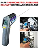 GENIAL THERMOMETRE LASER SANS CONTACT ! DIAGNOSTIC IMMEDIAT ! TEMPERATURE MESUREE EN 1S MEME A 1M ! 4X4 RAID TRIAL QUAD CROSS VHC RALLYE AUTO MOTO CAMION CAMPING-CAR SIRENE KLAXON OUTILLAGE ACCESSOIRES SCOOTER YOUNGTIMERS BATEAU MARINE LCM0817