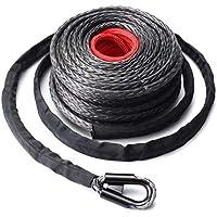 Winch sintético de 9,5 mm * 28 m. Cable de cable 20500LBs Hook + Hawse Fairlead
