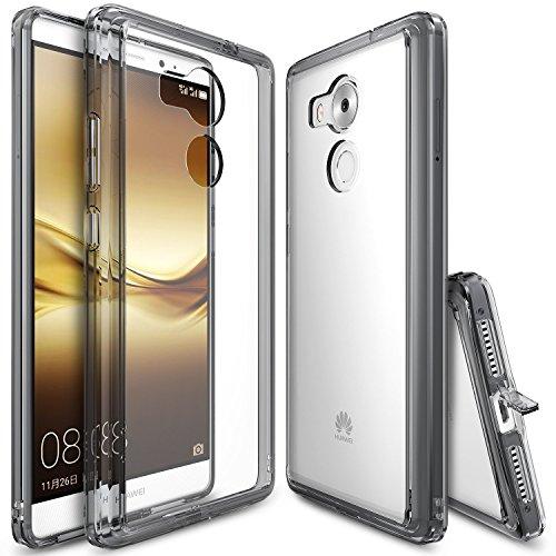 Huawei Mate 8 Hülle, Ringke FUSION kristallklarer PC TPU Dämpfer (Fall geschützt/ Schock Absorbtions-Technologie) für das Huawei Mate 8 - Rauchschwarz