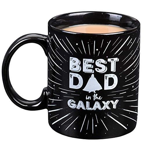 Seven20 Día de las padres Star Wars taza con café taza de Darth Vader Mejor papá en la galaxia cerámica 11