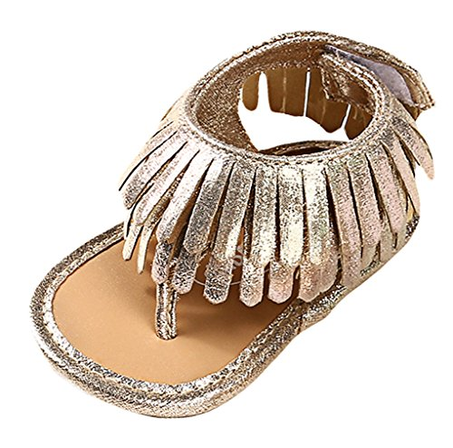 Eozy Sandale Bébé Chaussure Premier Pas avec Frange Antidérapant Semelle Molle