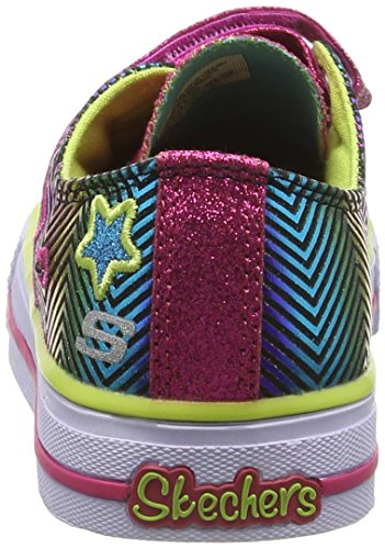 Skechers Shuffles Triple Up, Baskets mode fille Multicolore (Mlt)