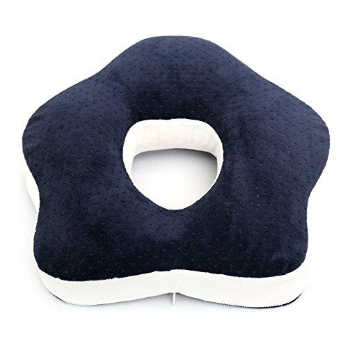 Preisvergleich Produktbild Tofern Mehrzweck- Meer Sternförmigen Gedächtnisschaumkissen Rückenkissen Sitzkissen - Dunkelblau