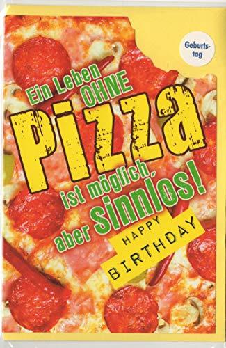 """Geburtstagskarte""""Pizza"""", B6 + Umschlag"""