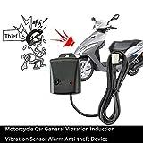 Evenlyao Sistema di Allarme per Moto, Allarme per Auto Moto, Allarme Elettronico per Auto, Allarme, Antifurto