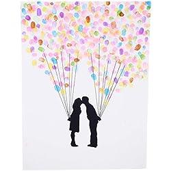 Pareja con globos, 40x30 cm