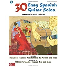 30 Easy Spanish Guitar Solos: Noten, CD, Sammelband für Gitarre (Book & CD)