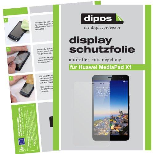 dipos I 2X Schutzfolie matt passend für Huawei MediaPad X1 7.0 Folie Displayschutzfolie