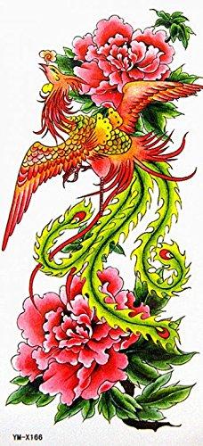 GRASHINE gefälschte und realistische temporäre Tattoos wasserdichte reizvolle phoenix Blumen Schönheit Zustrom von Waren
