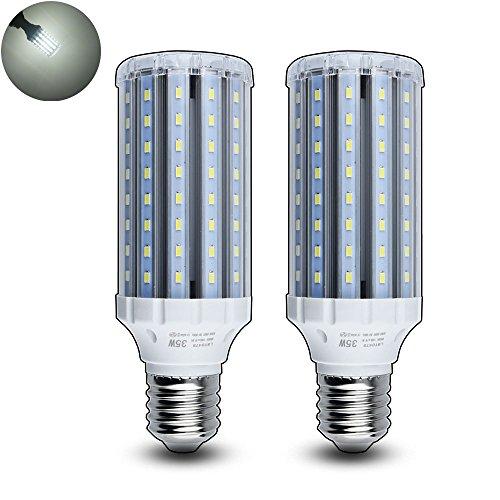 Luxvista E40 LED Mais Licht 35W Kühlweiß 6000K 3500 Lumen Schraubensockel LED Mais Birnen (2 Stück) (3500 Lumen Led-licht)