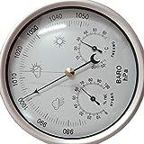 QUUY Thermomètre Intérieur Et Extérieur 3-en-1 - Hygromètre De Température À Baromètre Tableau De Prévisions Météorologiques pour Les Ménages Baromètre Manomètre