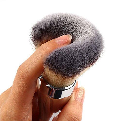 XNWP-Singolo pennello polvere pennello con argento maniglia in metallo strumenti di bellezza