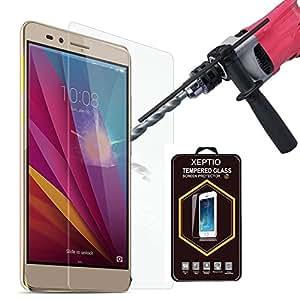 Huawei Honor 5X 4G: Protection d'écran en verre trempé - Tempered glass Screen protector 9H premium / Films vitre Protecteur d'écran verre trempé Huawei Honor 5X smartphone 2015/2016 - Version intégrale avec accessoires - Prix découverte Accessoires XEPTIO