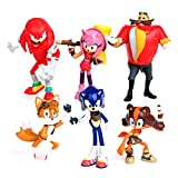 Sonic the Hedgehog lote coleccion 6 figuras Sonic Tails Doll Amy Rose doctor Ivo Robotnik Miles Prower Knuckles de Echidna 4703