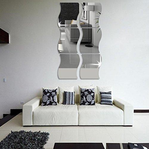Lunji Espejo Adhesivo Decorativo para Pared