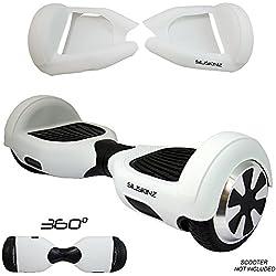 """Cubierta de la caja de la jalea del silicón de Hoverboard de 360 ??grados - para 6.5 """"Sleg de la rueda de Swegway 2 (BLANCO)"""