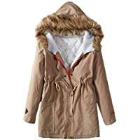 Longra ☂☂ ☂☂❤️❤️ Mujer Abrigo de Invierno cálido con Capucha de Manga Larga con Capucha al Aire Libre